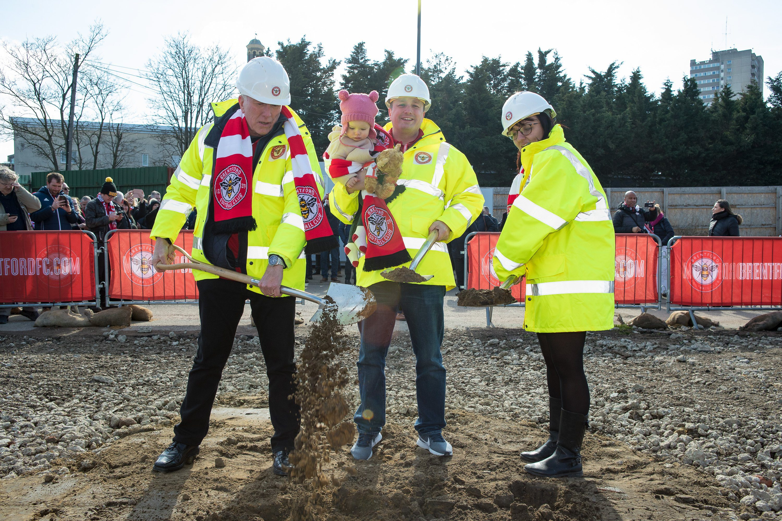 Brentford FC's new stadium ground-breaking ceremony